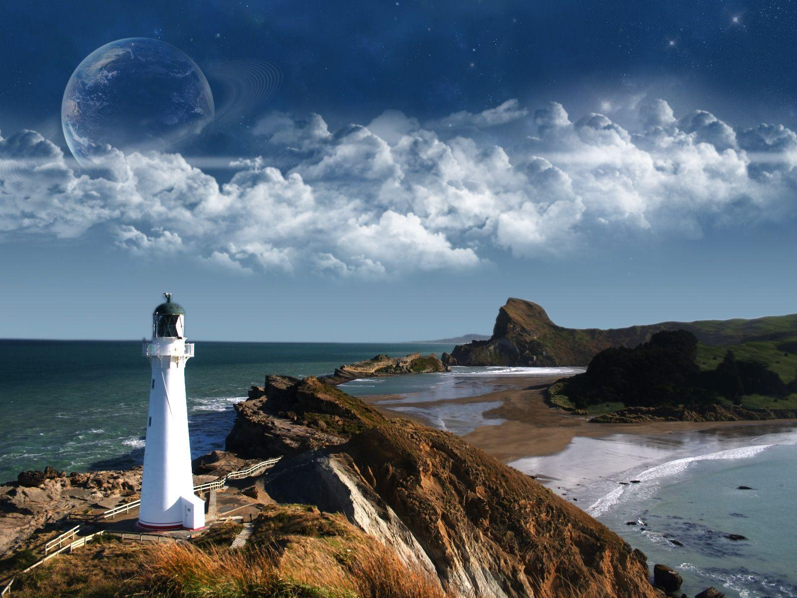 Wallpapers For > Lighthouse Wallpapers Widescreen