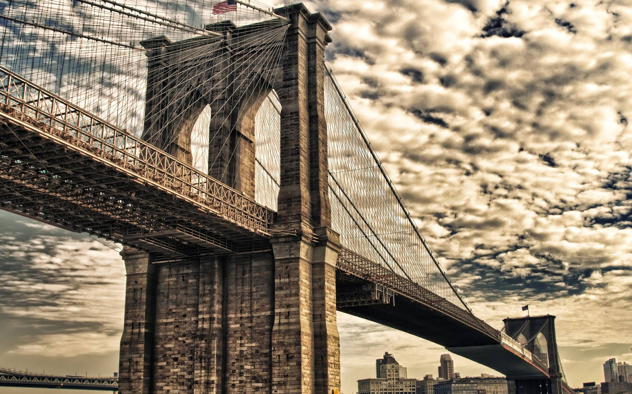 Brooklyn Bridge, New York City widescreen wallpapers