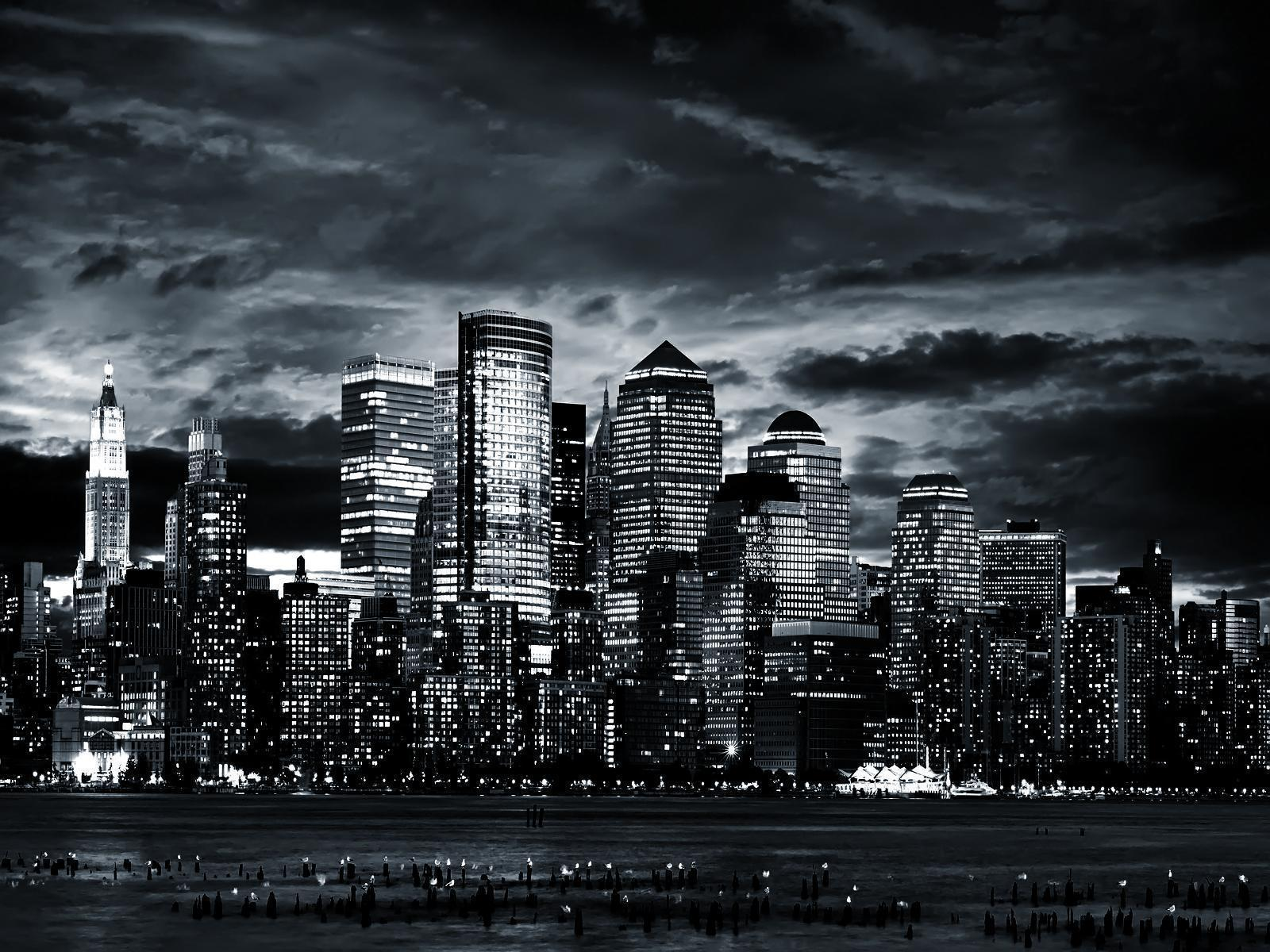 Black and White City by the Sea wallpapers II, Some Days Reality