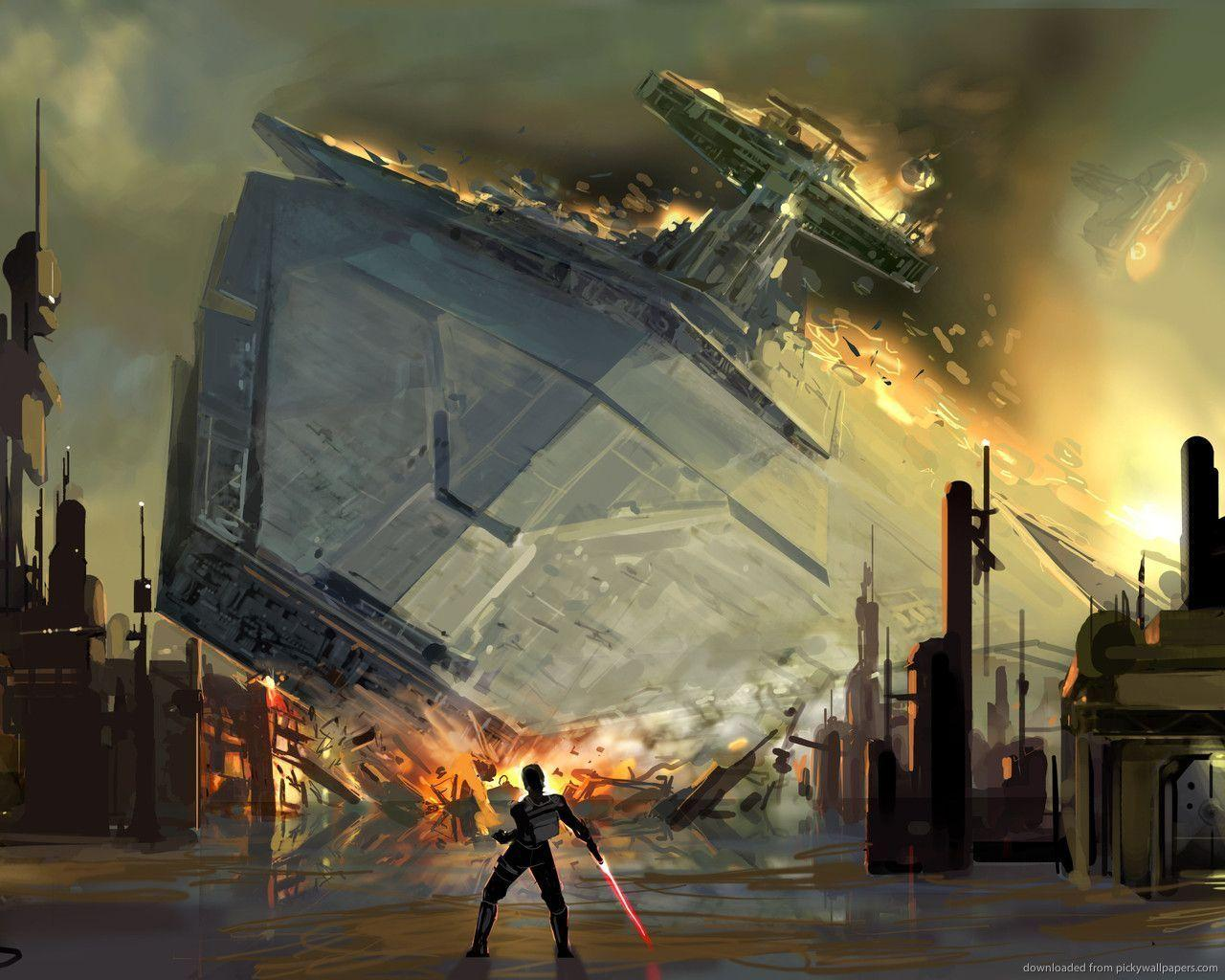 Download 1280x1024 SWTFU Star Destroyer Force Pull Wallpapers