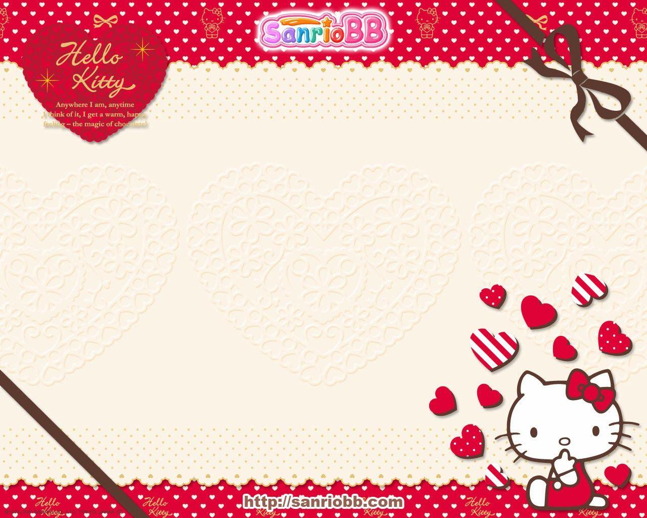 Hello Kitty Red Wallpapers Wallpaper Cave