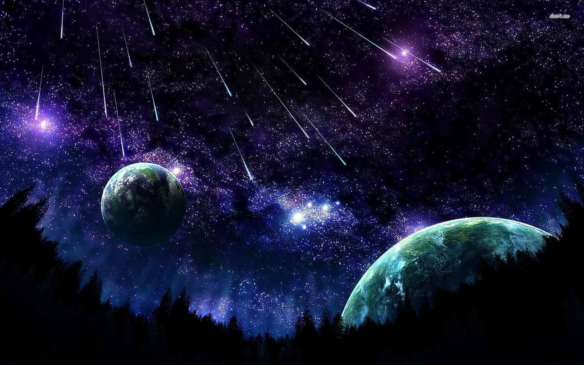 Night Sky Stars Wallpapers Wallpaper Cave