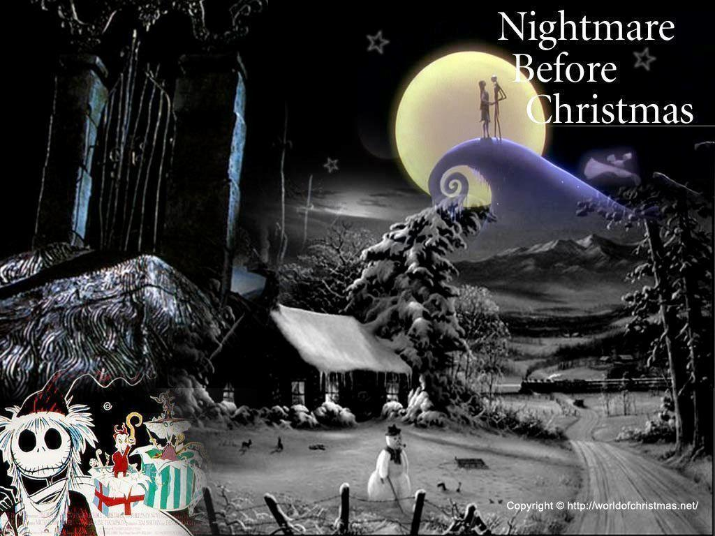 Xmas Stuff For > Nightmare Before Christmas Trees In The Movie