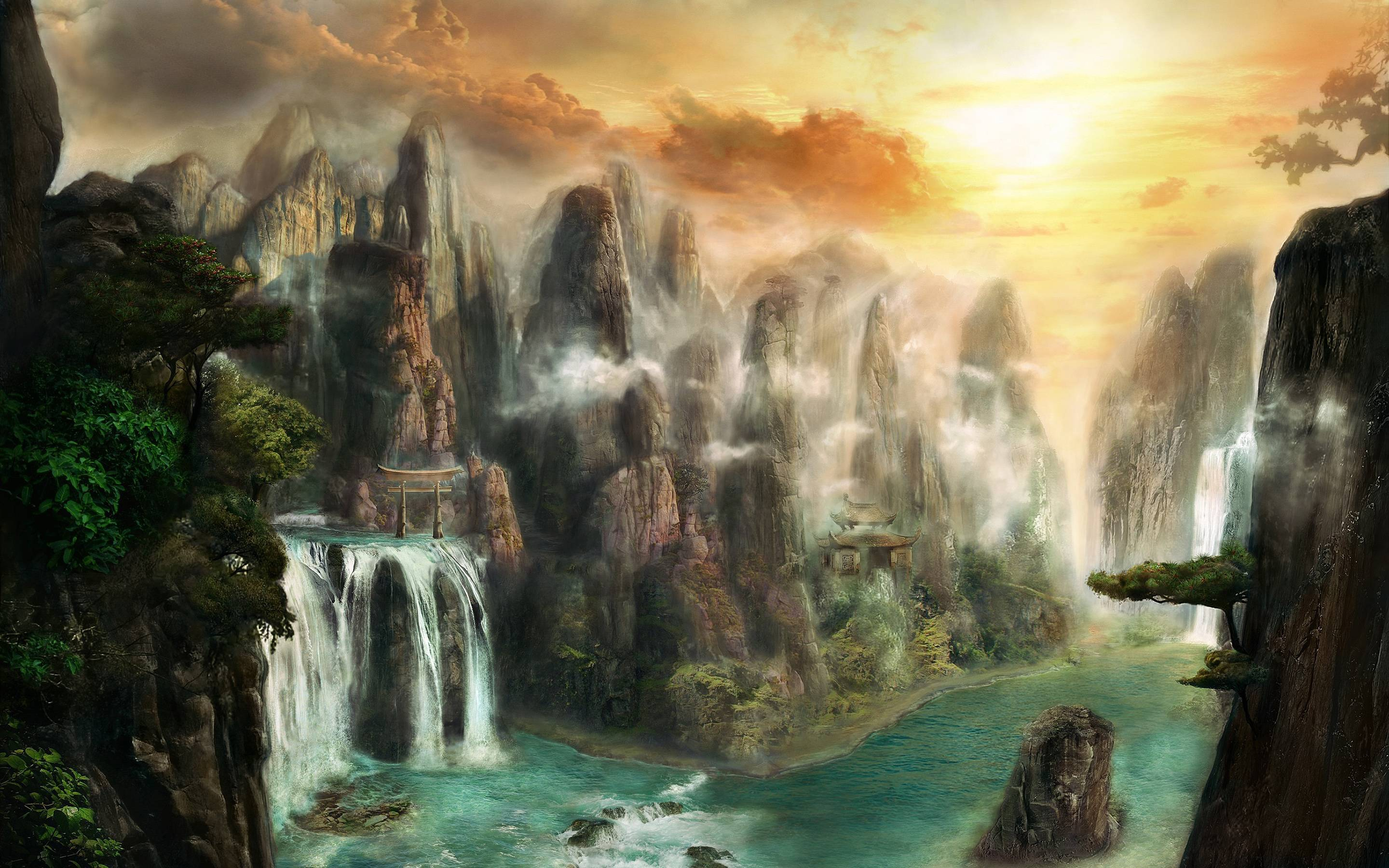 Fantasy world wallpapers wallpaper cave - Fantasy land wallpaper ...