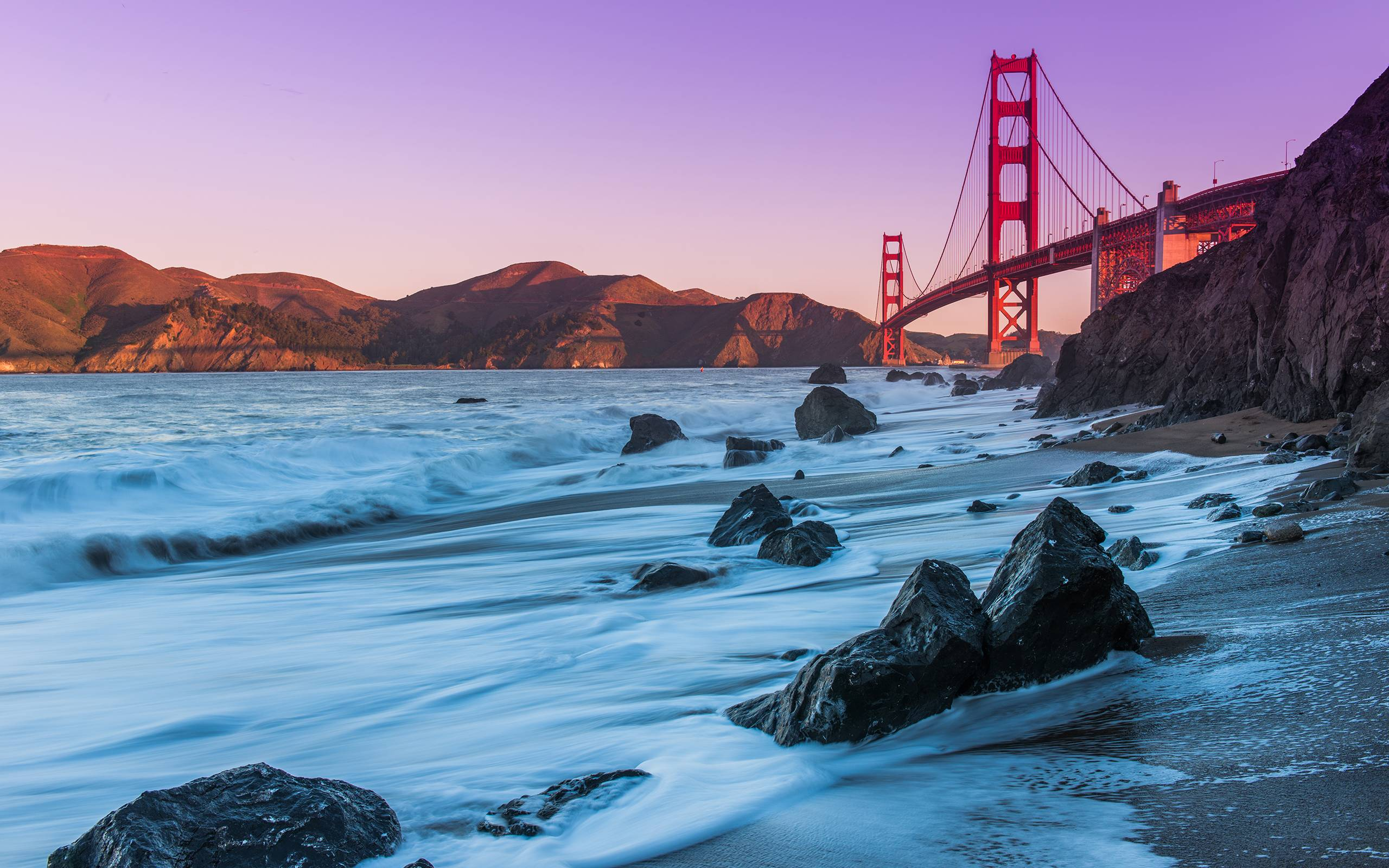Golden gate bridge coast Wallpapers