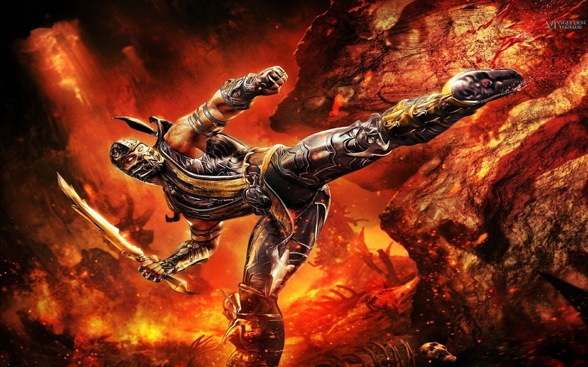 Mortal Kombat Wallpapers Scorpion - Wallpaper Cave