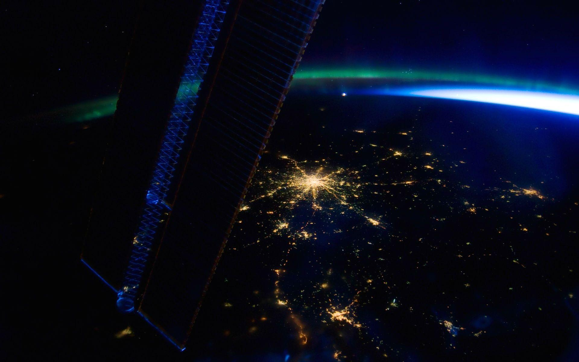 international space station from ground at night - photo #15