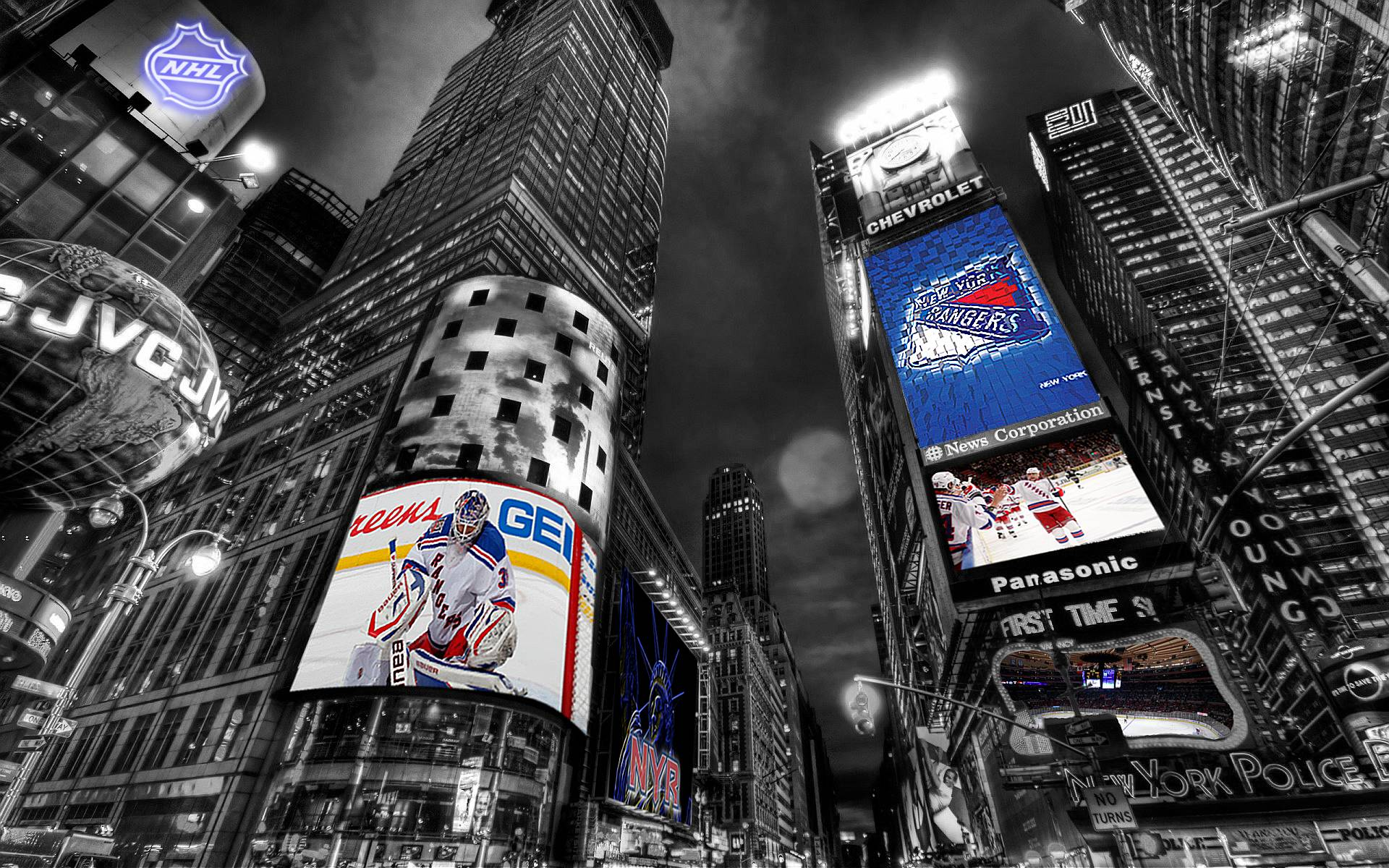 NHL New York Rangers Times Square Wallpaper by Realyze on DeviantArt