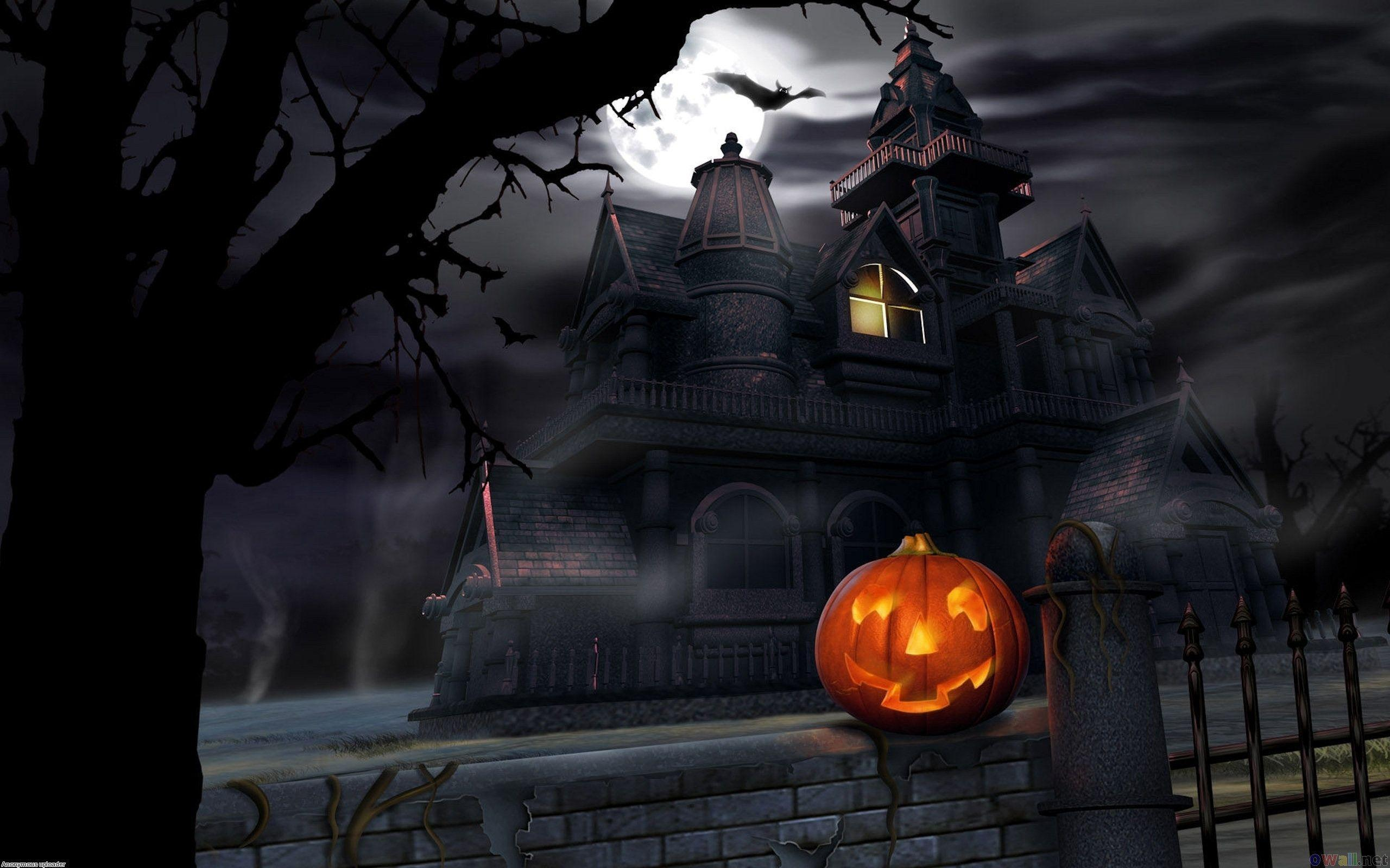 haunted house wallpaper - photo #14