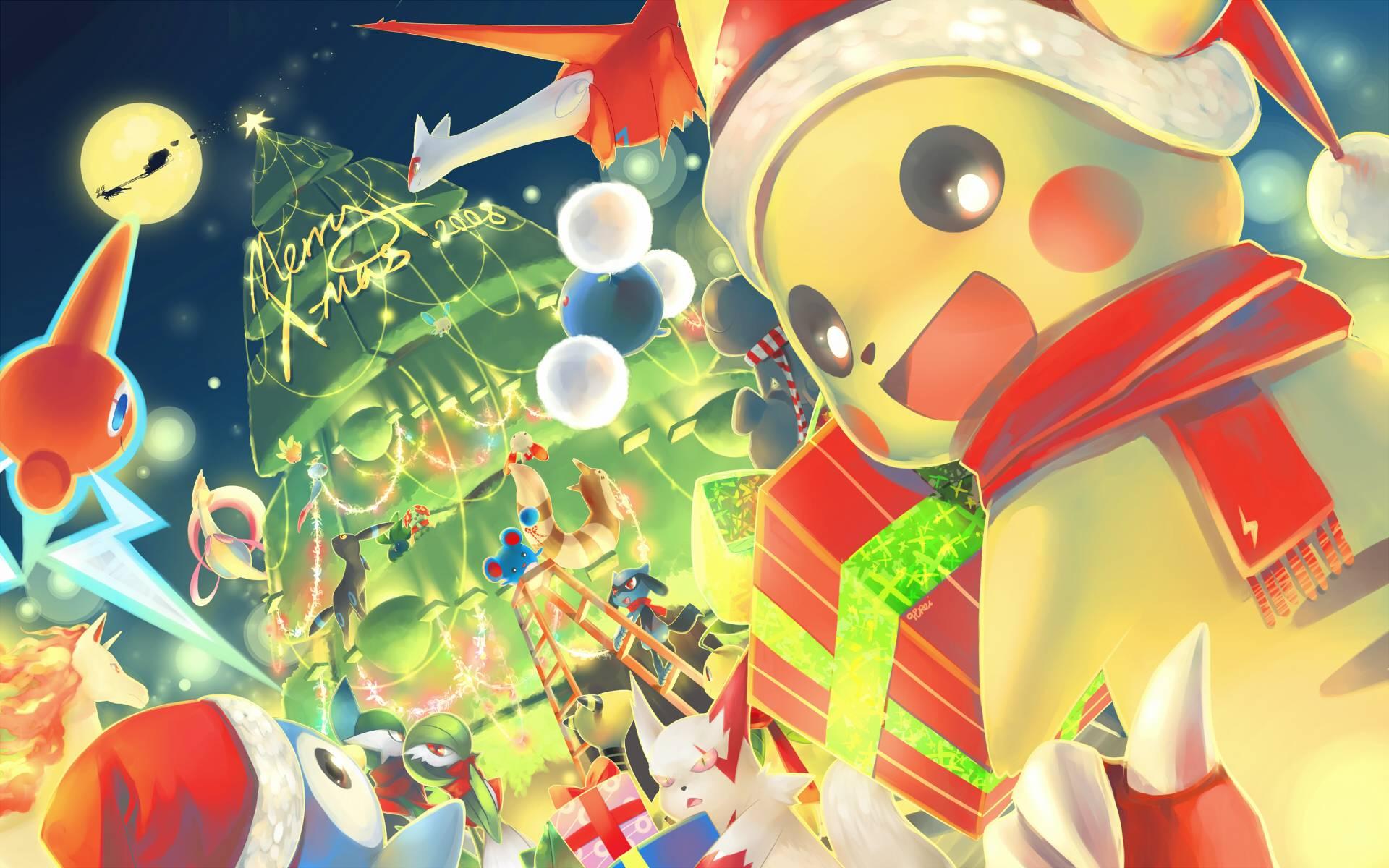 Výsledek obrázku pro pokemon christmas free art