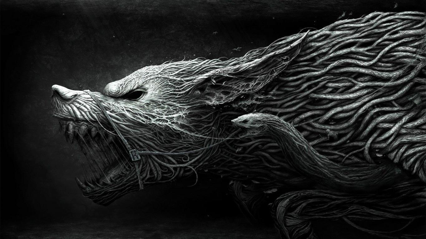 Fantasy wolf wallpapers wallpaper cave - Dark wolf wallpaper ...