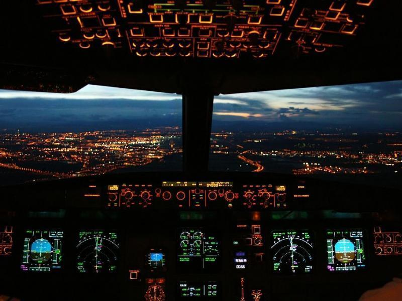 Airbus A320 Cockpit Airliner Aircraft Hd Wallpaper