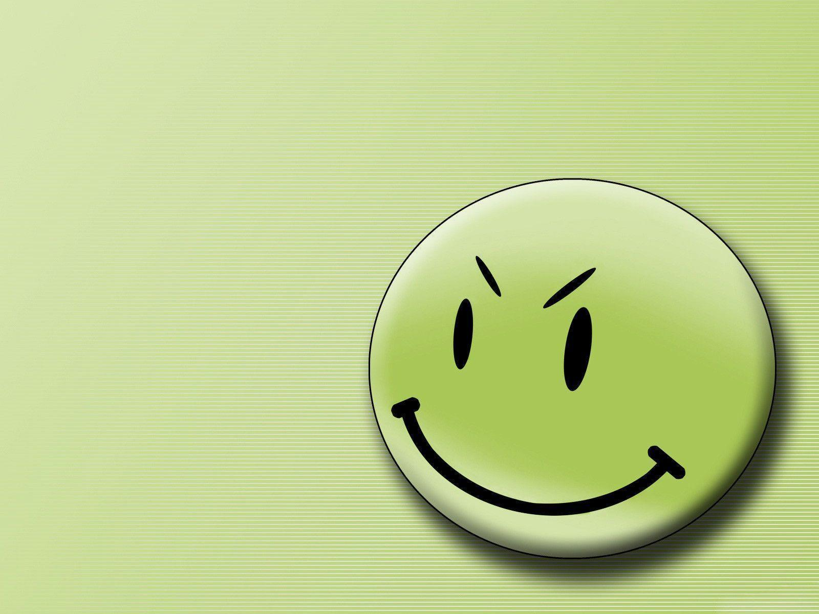 Desktop Wallpapers · Gallery · Computers · Green smiley face