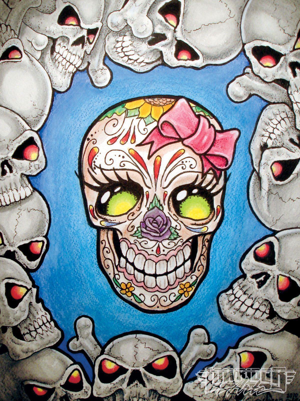 cute skull wallpapers wallpaper cave