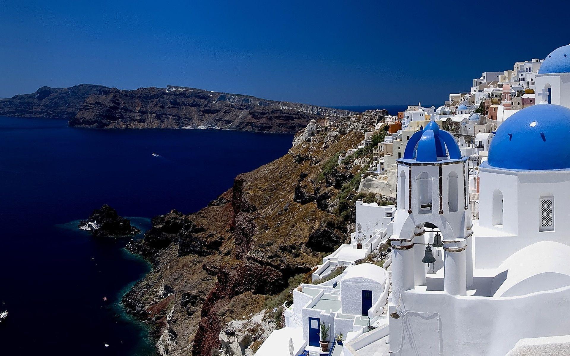 greece wallpapers santorini hd - photo #8