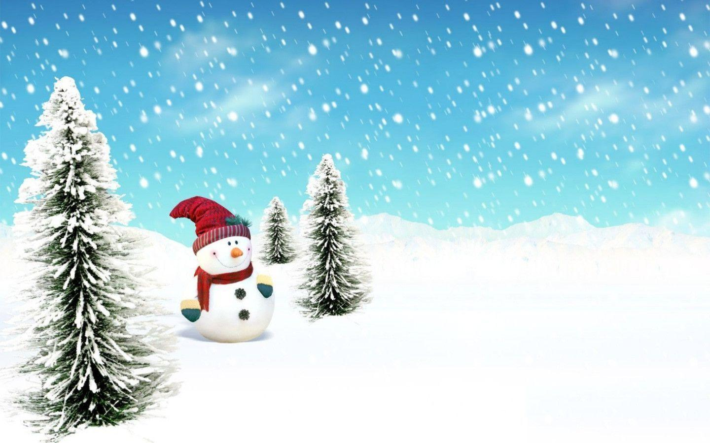 Free Christmas Snowman in Snow wallpaper Wallpapers - HD ...