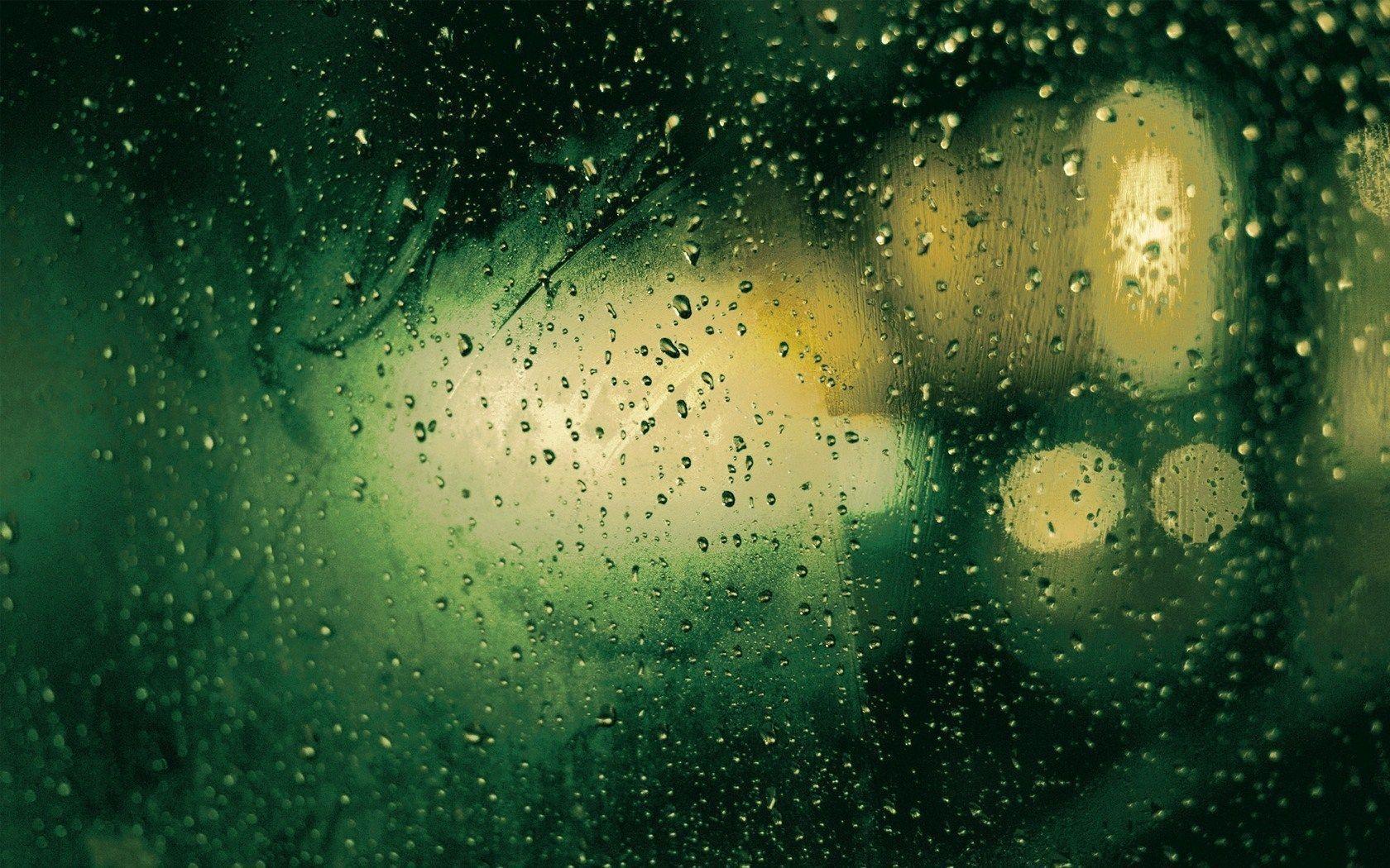 Window Rain Drops Night Lights HD Wallpaper - ZoomWalls