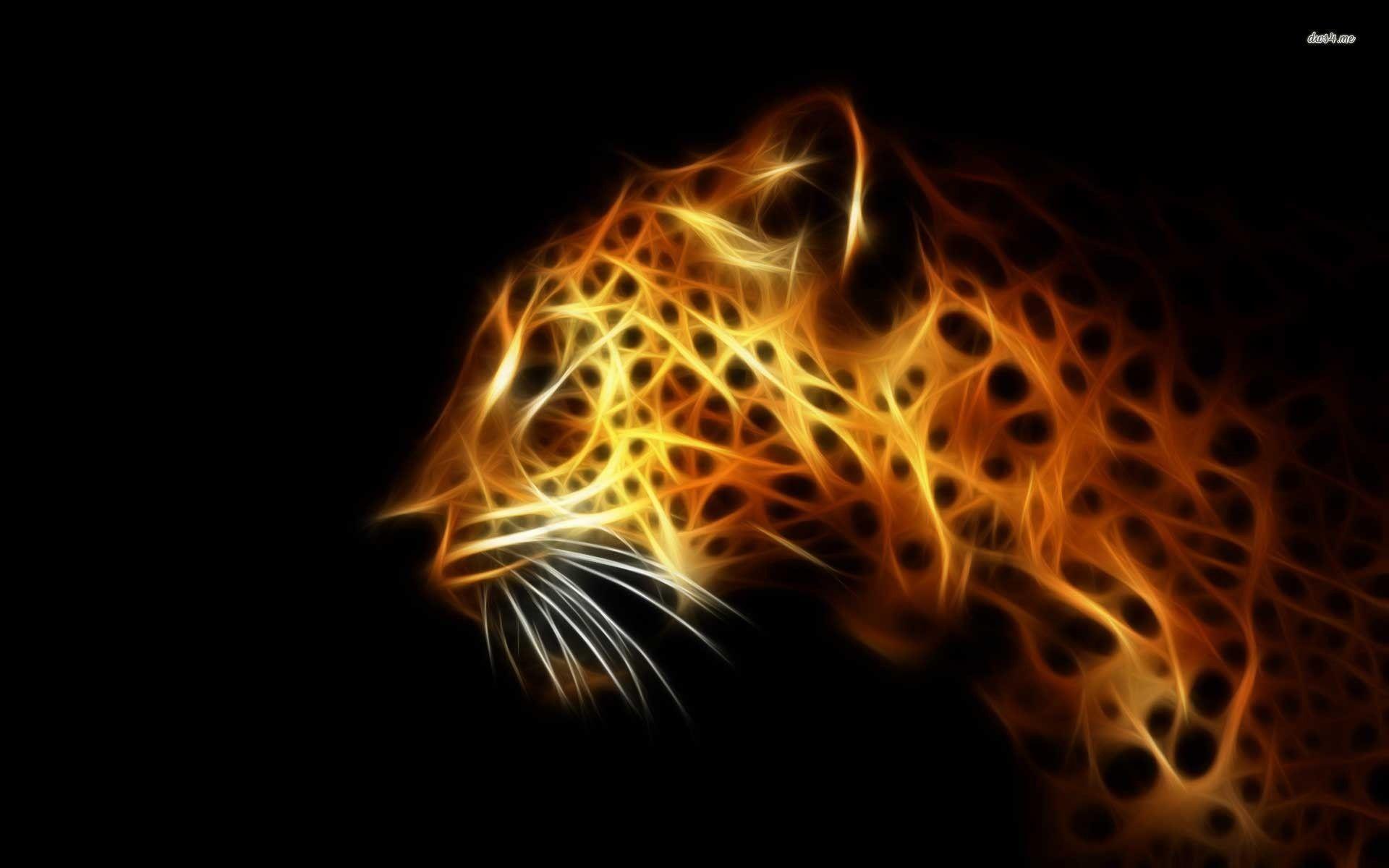 Digital Leopard Art Wallpapers