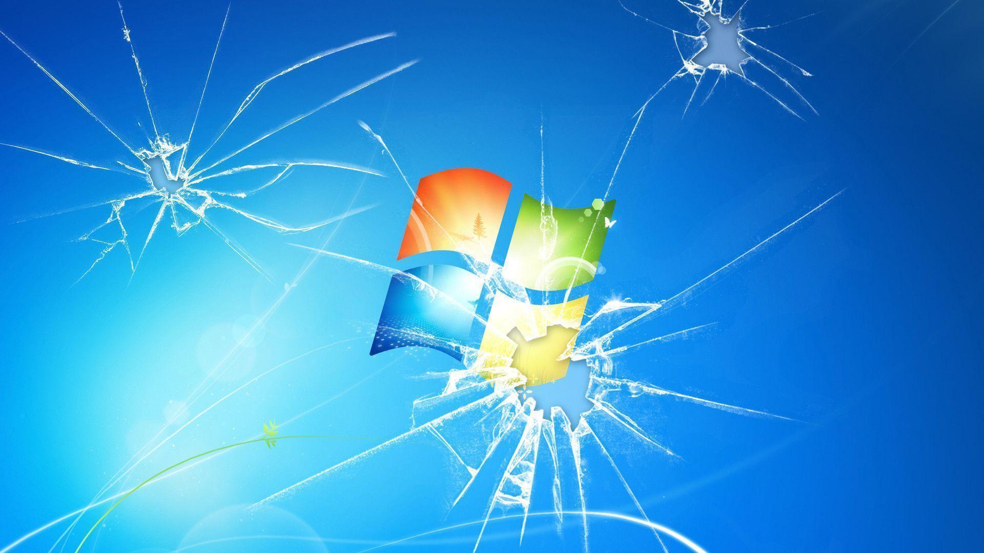 cracked computer screen wallpaper windows - photo #9