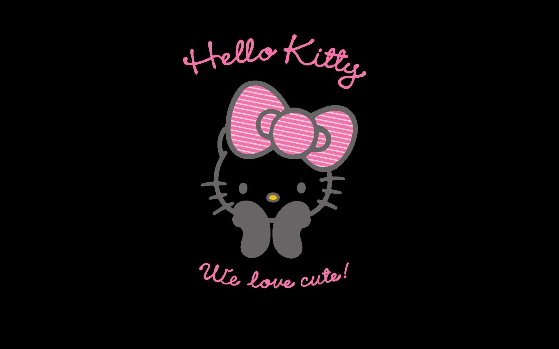 Pink And Black Hello Kitty Backgrounds Wallpaper Cave