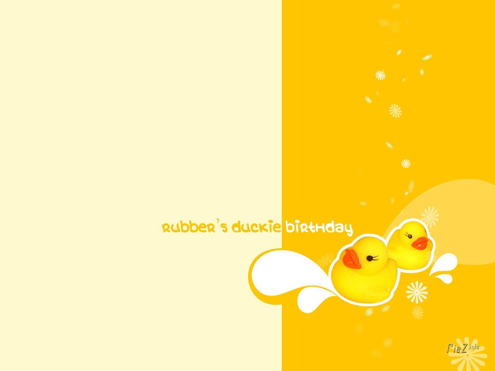 Yellow Rubber Ducks Wallpaper Border by Norwall LW7915N (2 Pack)