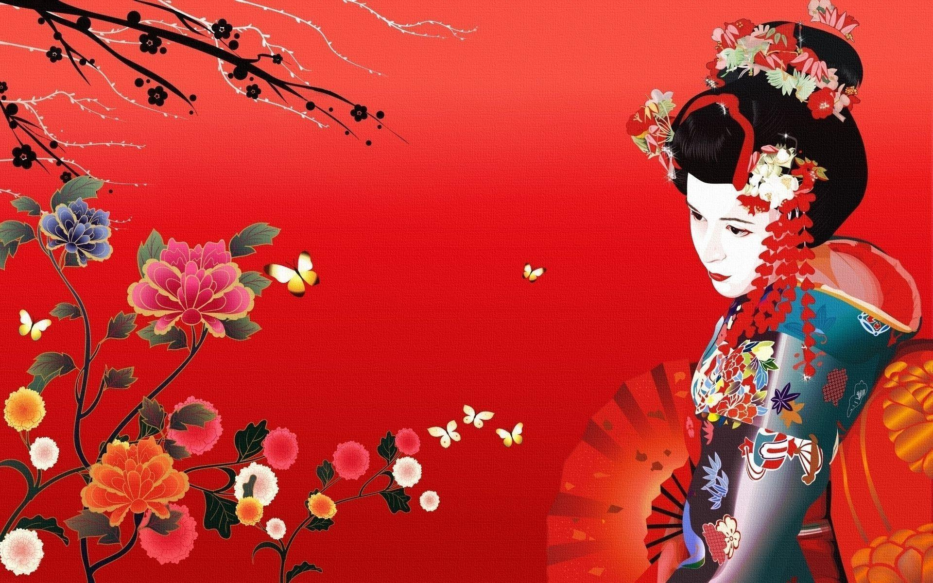 Japanese geisha wallpapers wallpaper cave for Japanese wallpaper