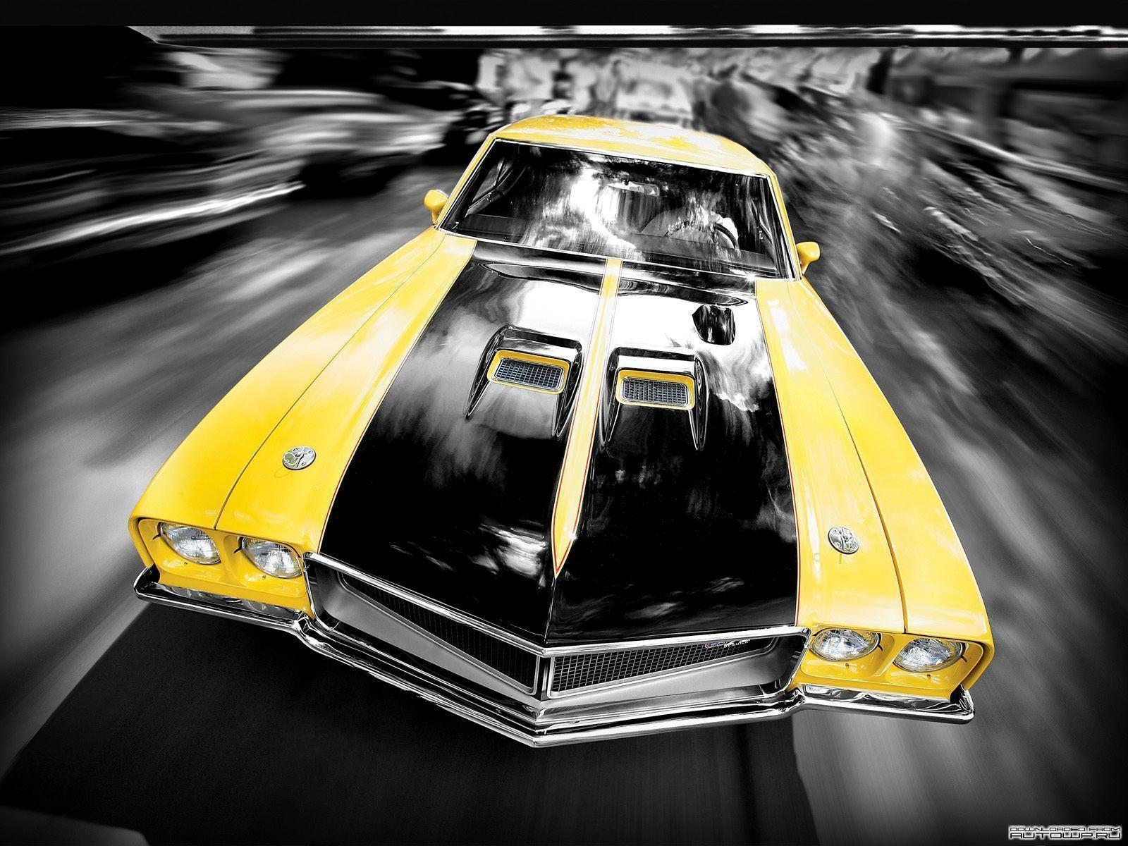 Yellow Cool Muscle Car HD Wallpaper - Cool Car Wallpapers