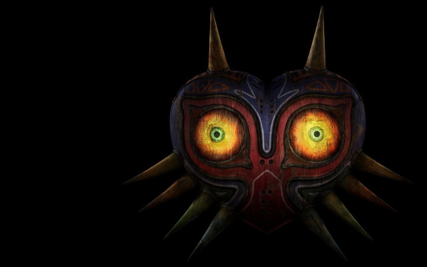 1440x900 The Legend Of Zelda Mask Desktop PC And Mac Wallpaper