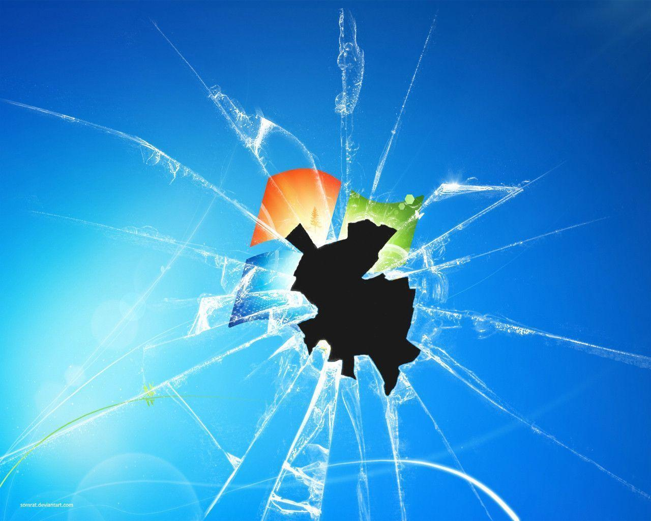 cracked screen wallpaper for - photo #26