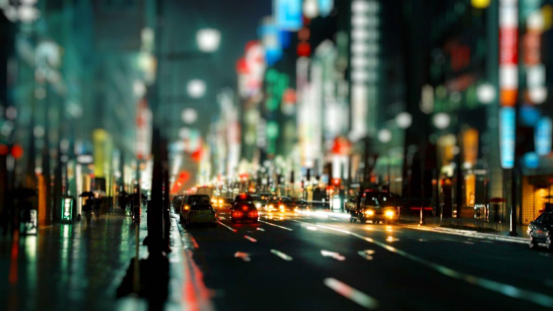 Street lights, Abstract, City, Colours, Cool, Evening, Lights