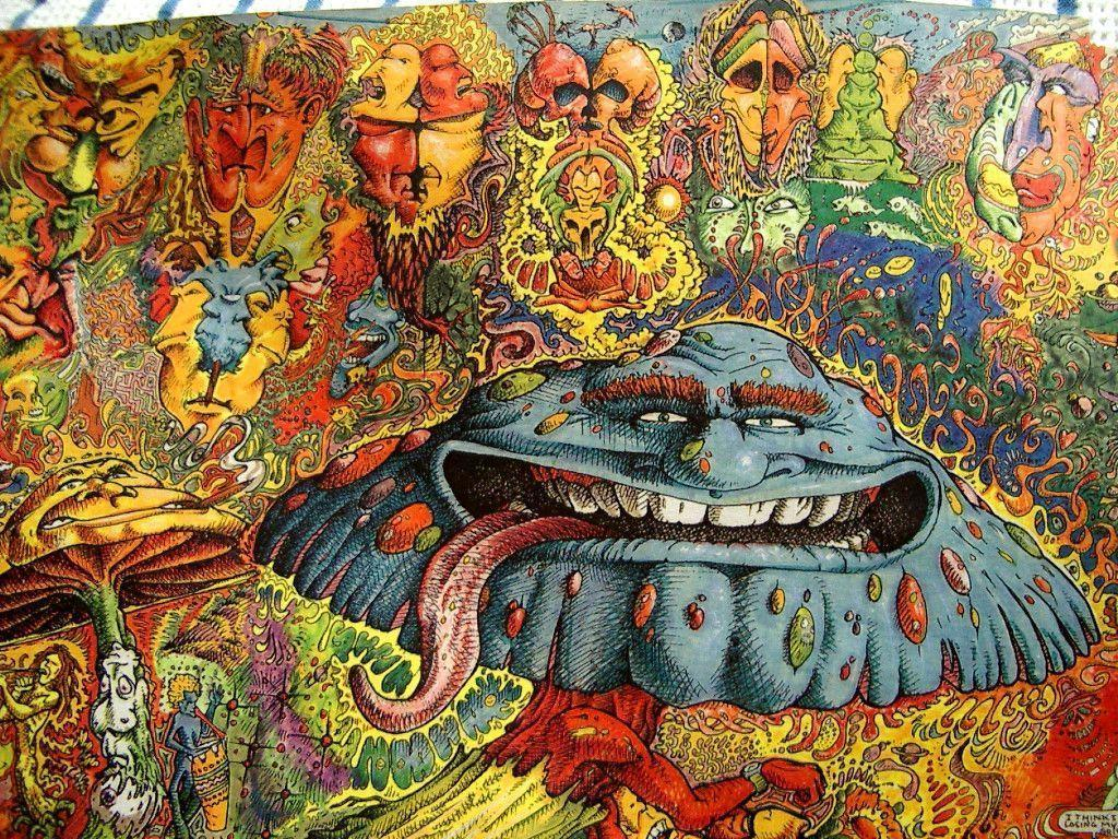 WEIRD SHROOM TRIP by Acid-Flo on DeviantArt |Crazy Trippy Drawings