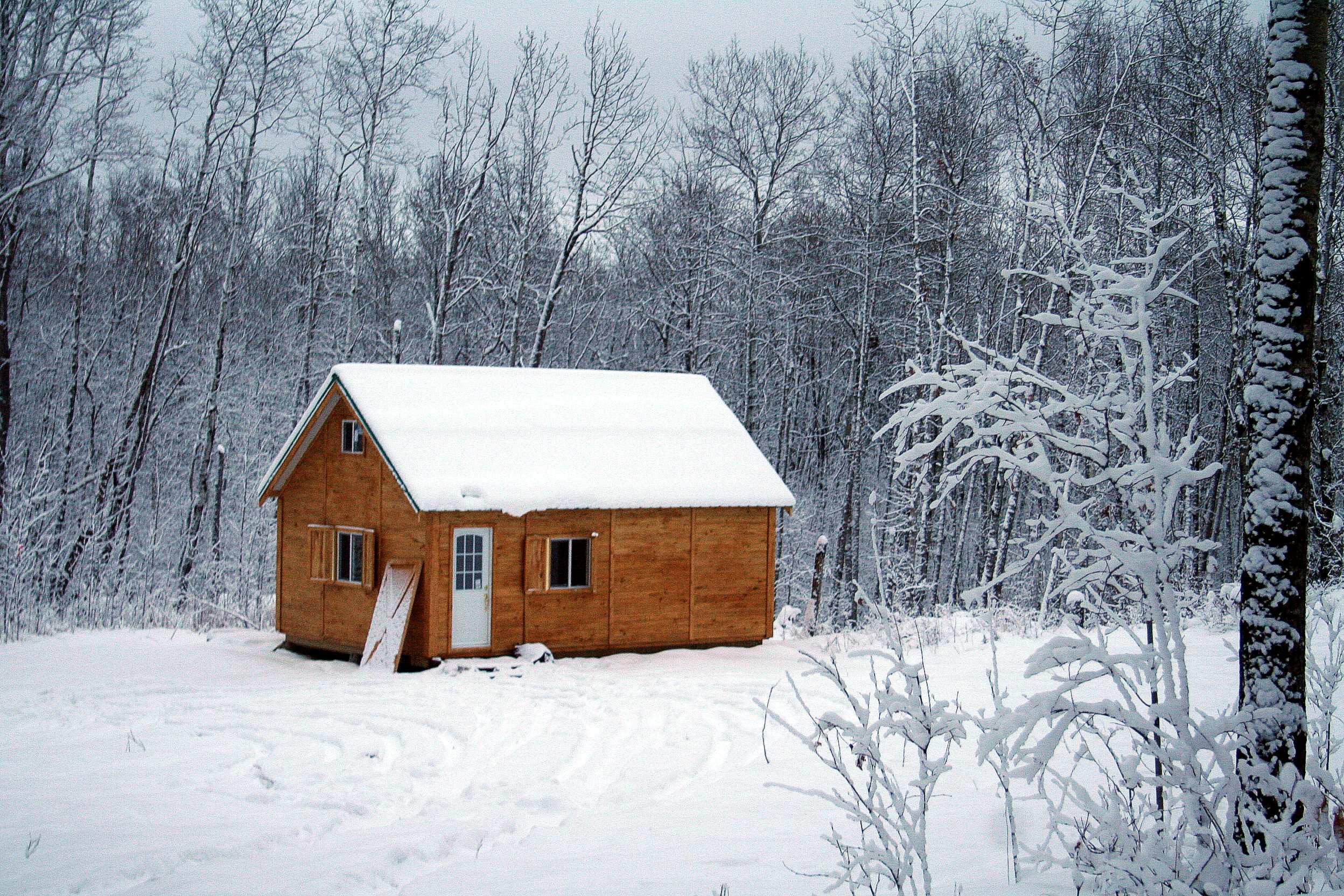 old cabin winter scene wallpaper - photo #29