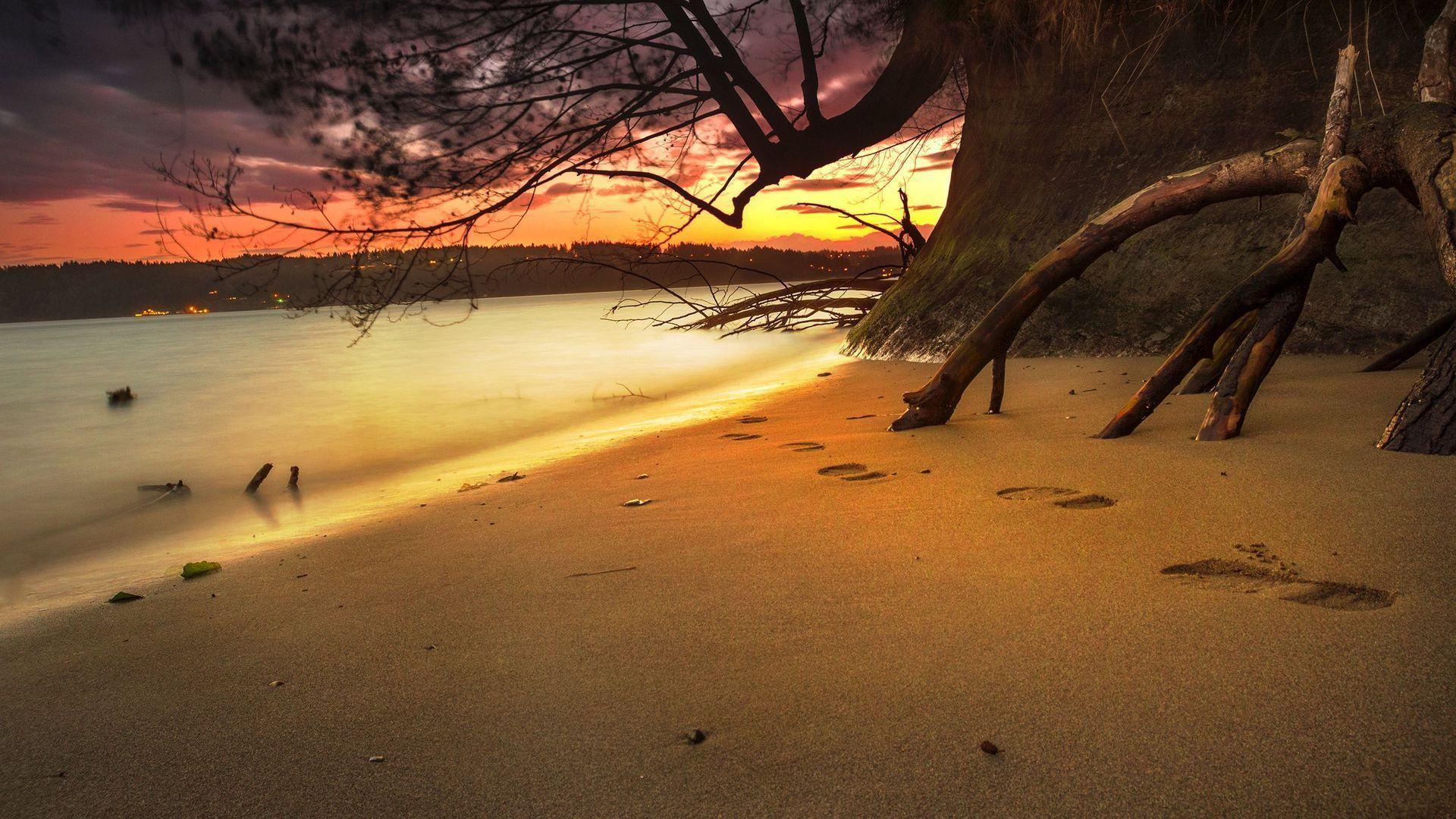 Footprints In The Sand Wallpapers - Wallpaper Cave