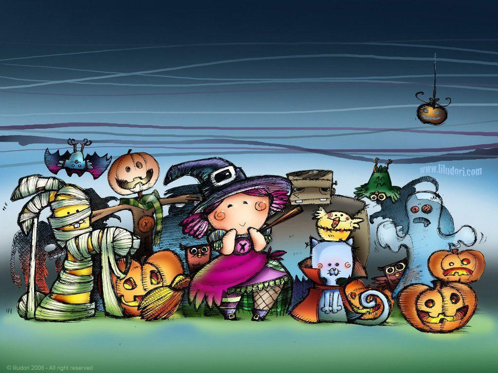 Top 10 Halloween Cute Wallpapers and Backgrounds