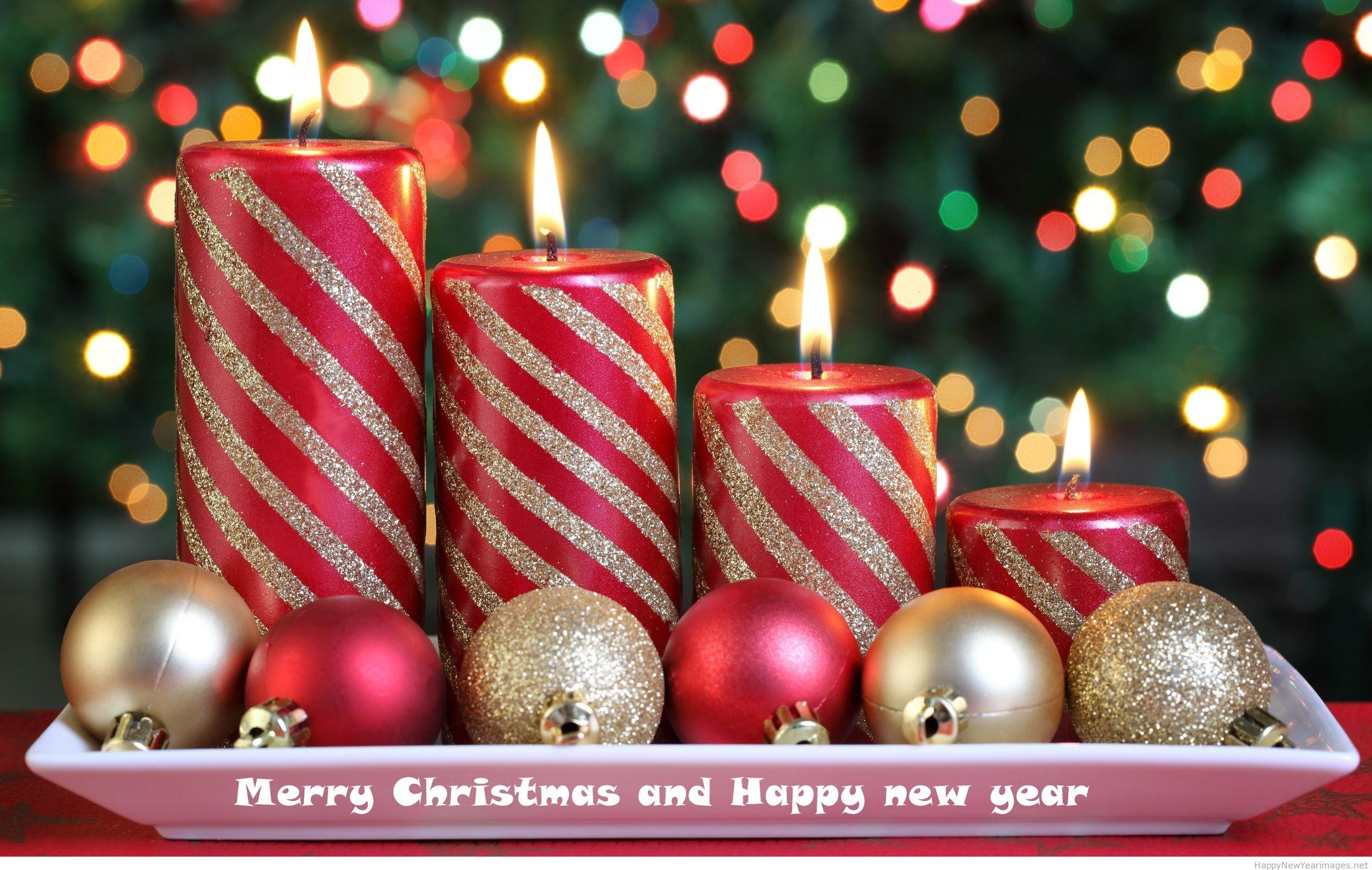 Wallpaper download new year 2015 - Merry Christmas And Happy New Year Candle Wallpaper 2014 2015 Download