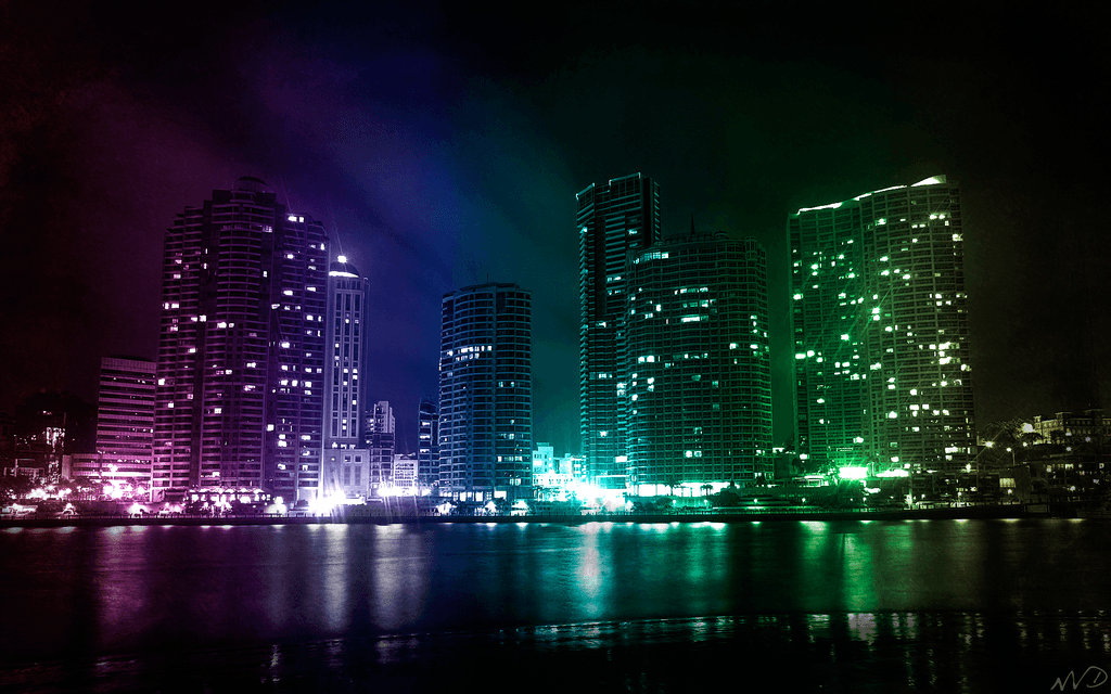 Lights Backgrounds - Wallpaper Cave:Green City Lights - World Desktop Wallpaper,Lighting