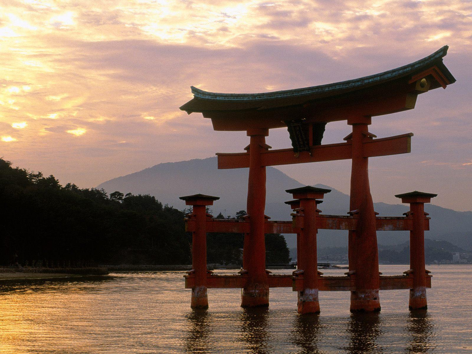 sunset at beach japan free desktop background free wallpaper image