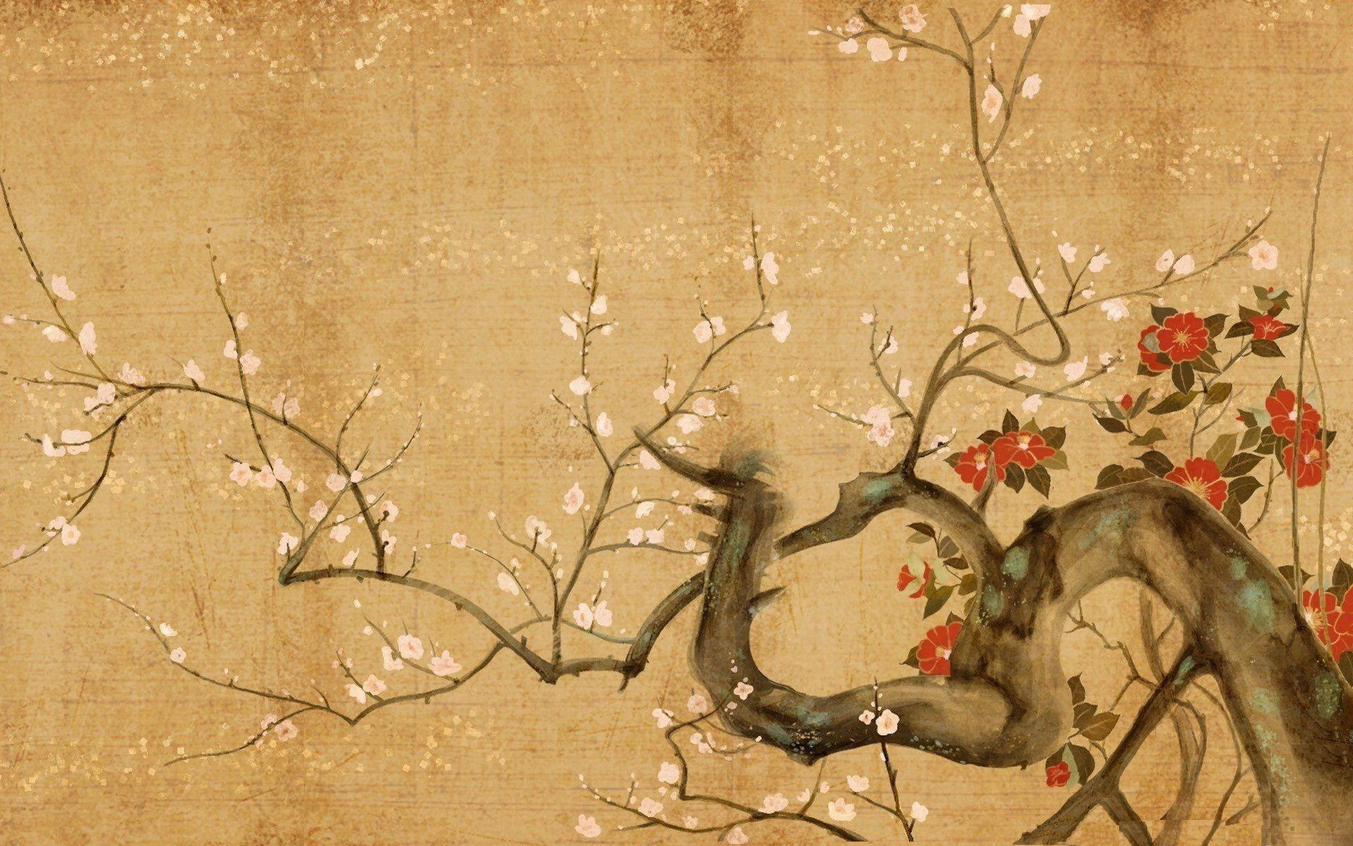 Japanese art wallpapers wallpaper cave for Asian wallpaper mural