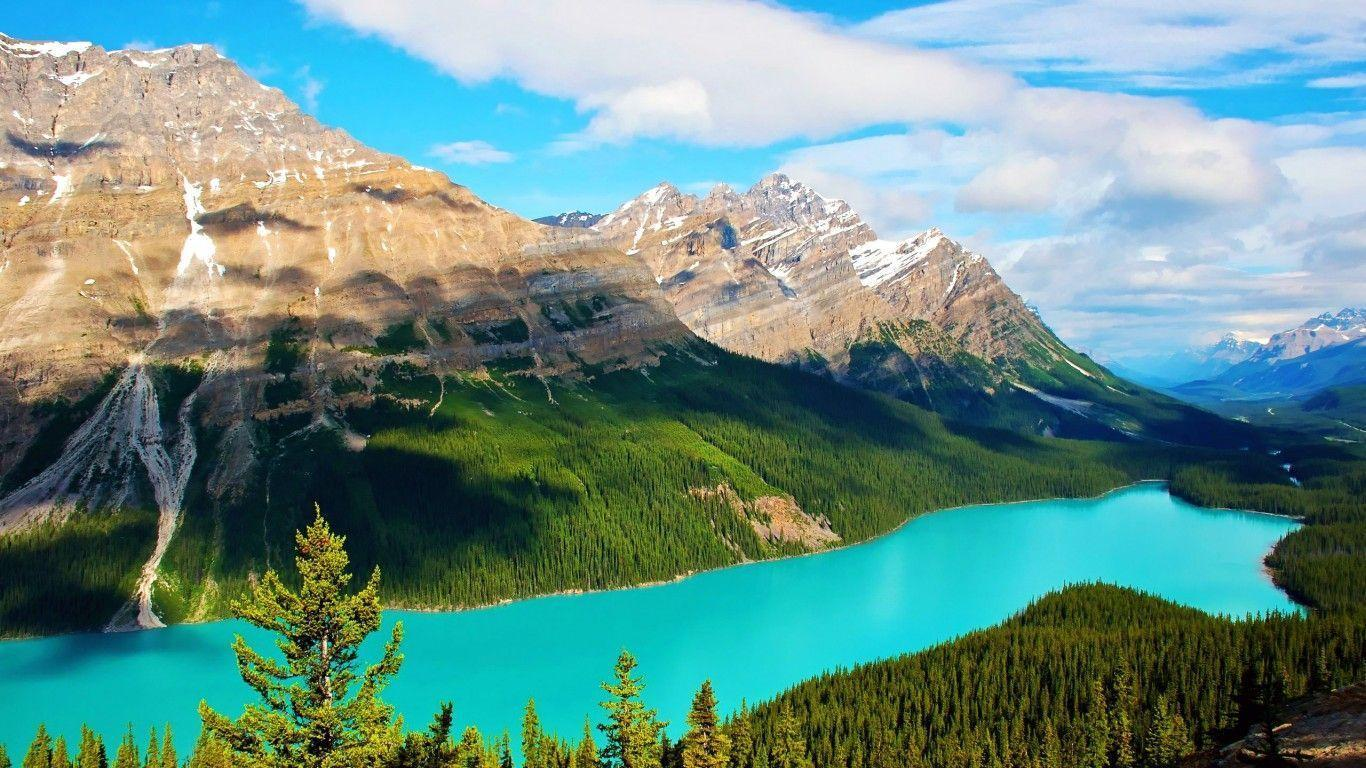 Kanada, Banff National Park, Lake Louise | Computer Wallpapers HD