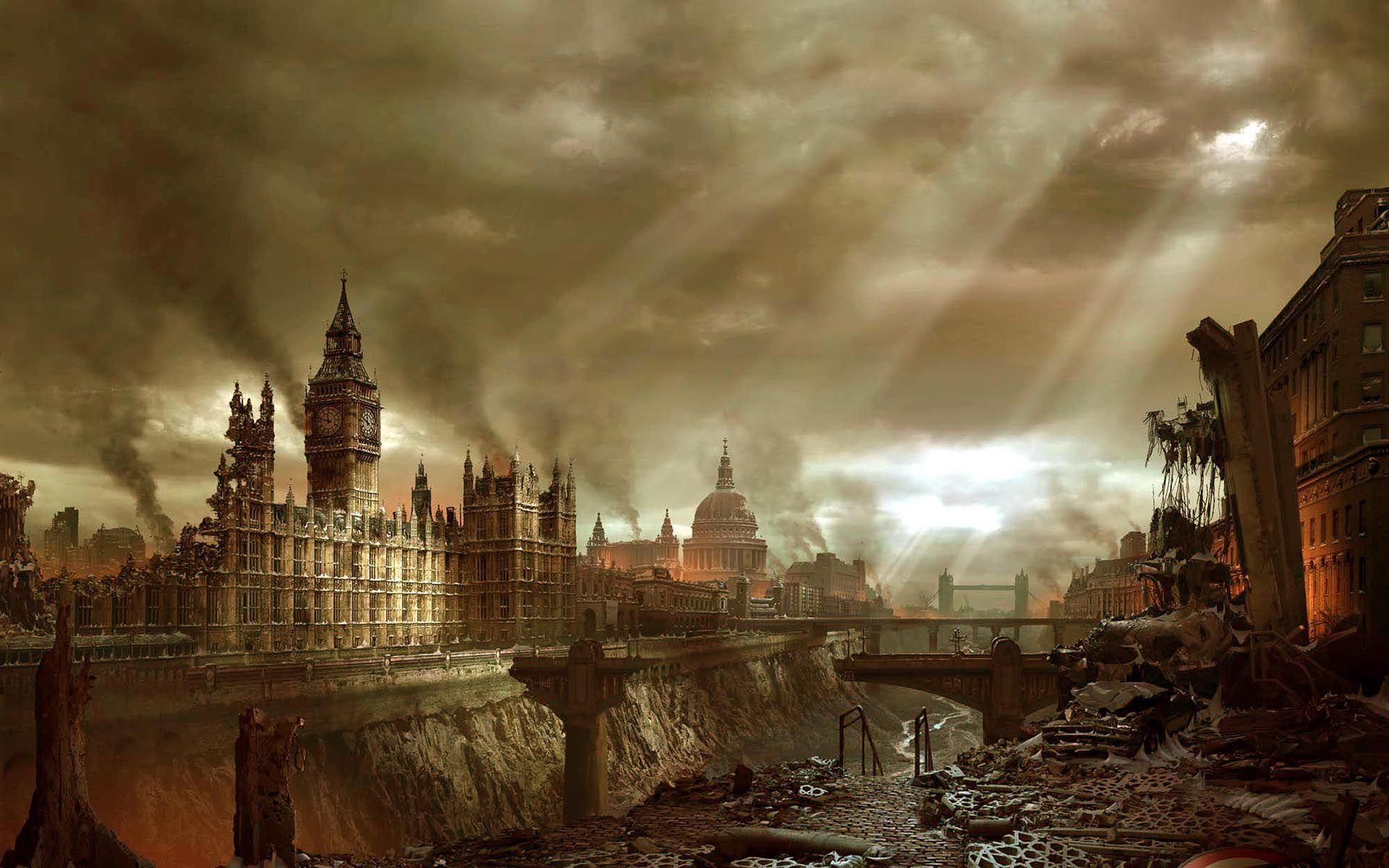 Post Apocalyptic London wallpaper - 590192