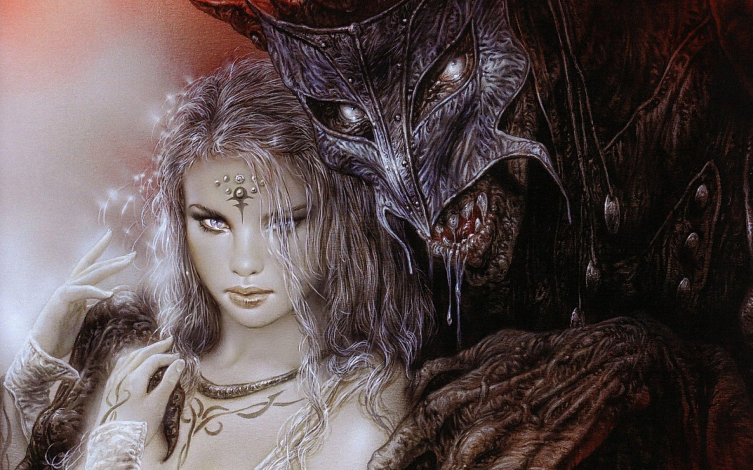 Lady and Demon - Luis Royo Wallpaper (36130603) - Fanpop