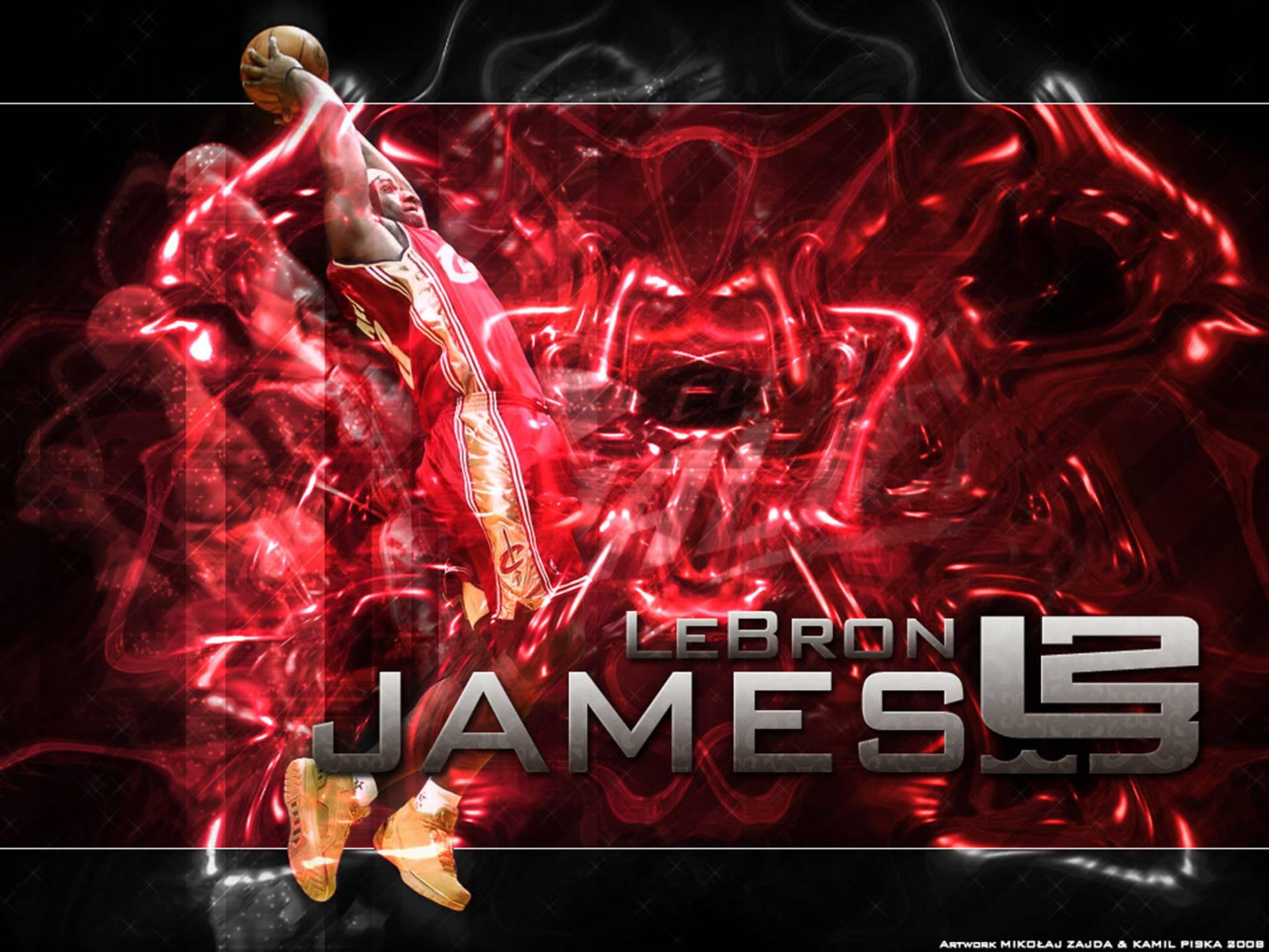 Lebron James Basketball Dunk Wallpaper