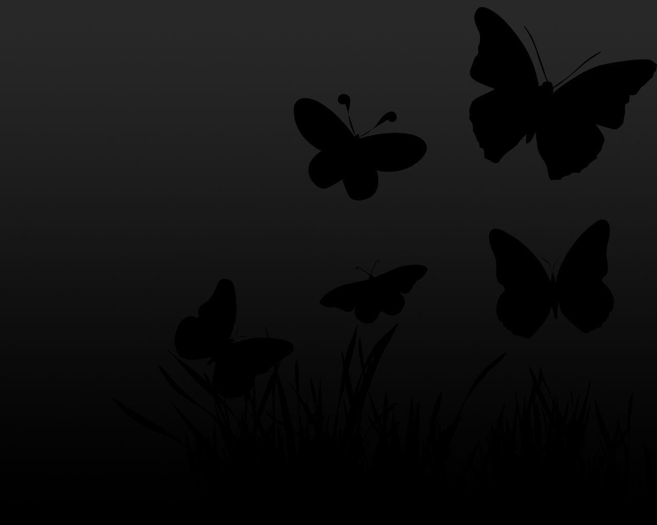 Wallpapers For Black Butterfly Background Designs