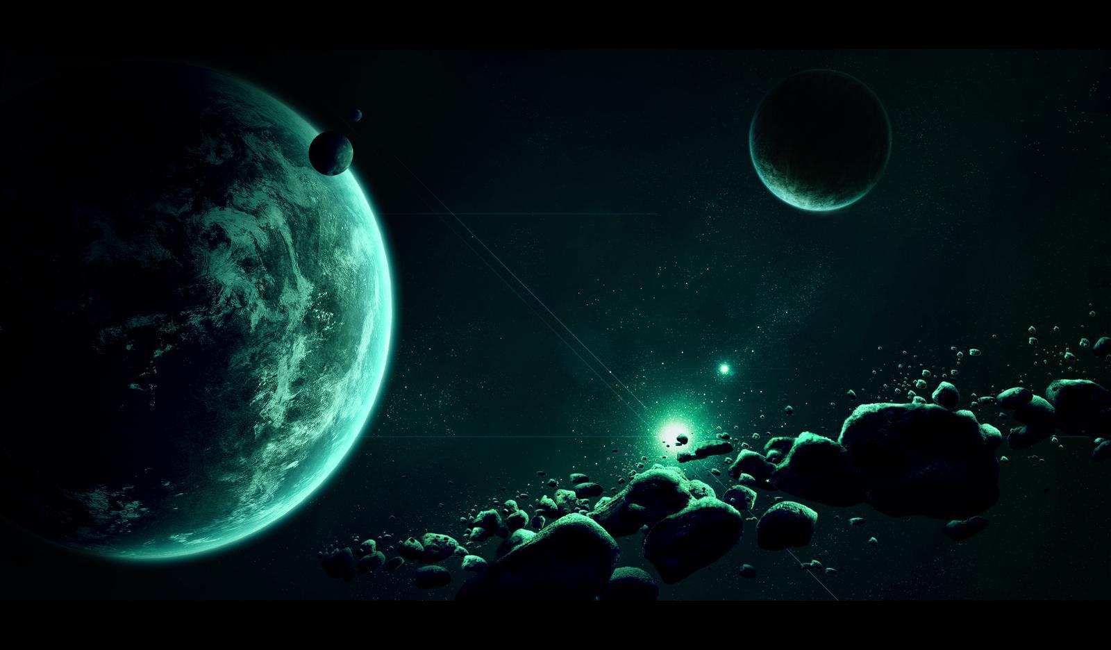 Dark space backgrounds wallpaper cave - Space wallpaper green ...