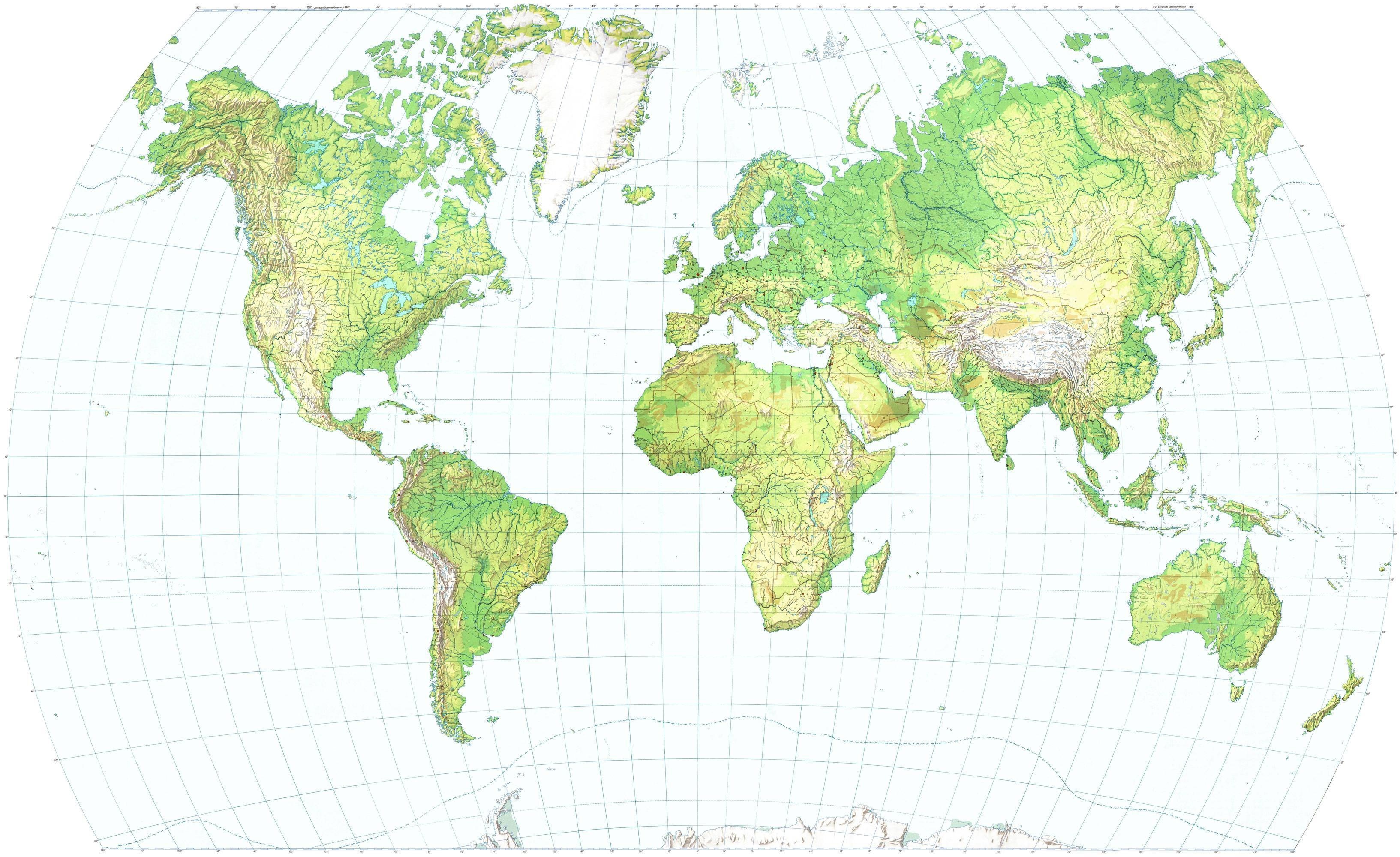 Great Map Of The World High Resolution Maps: World Map High Resolution