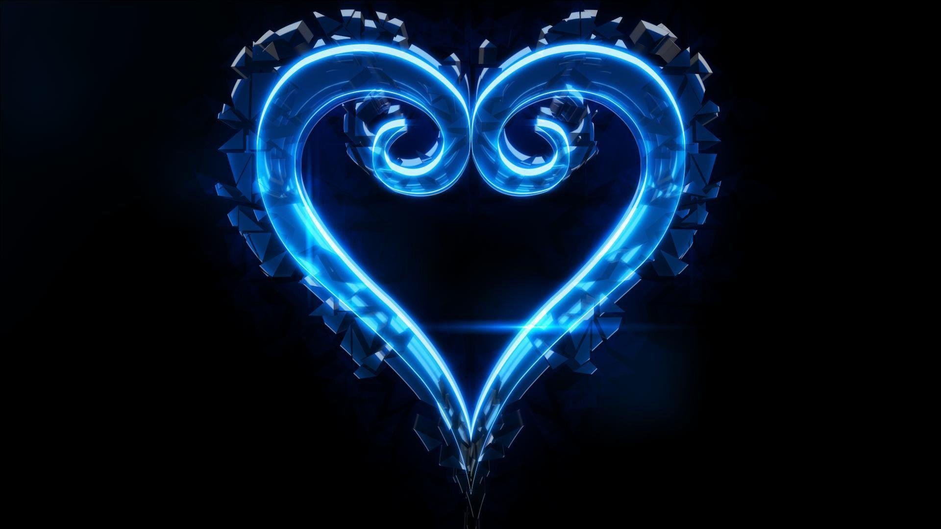 Blue Heart Wallpapers - Wallpaper Cave Blue Heart Wallpapers