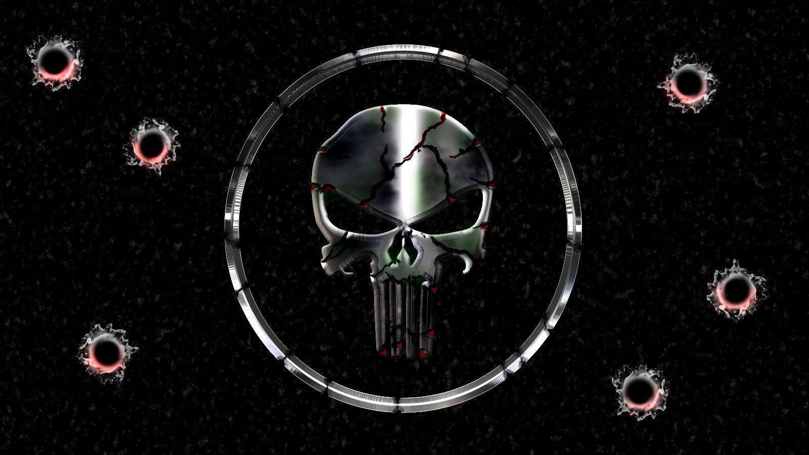 Black Punisher Skull Images Wallpaper HD - dlwallhd.