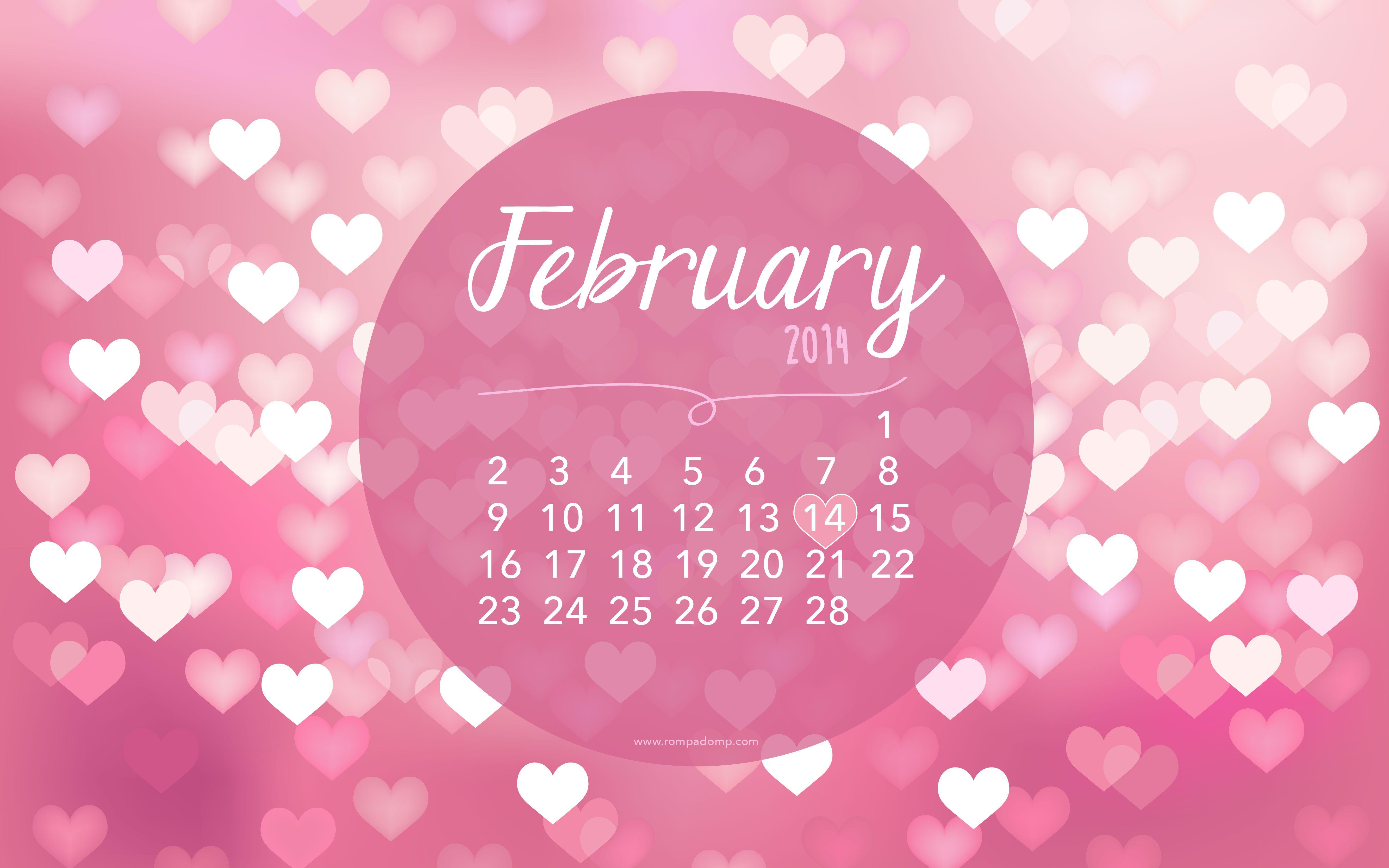 February Calendar Wallpaper Hd : February wallpapers wallpaper cave