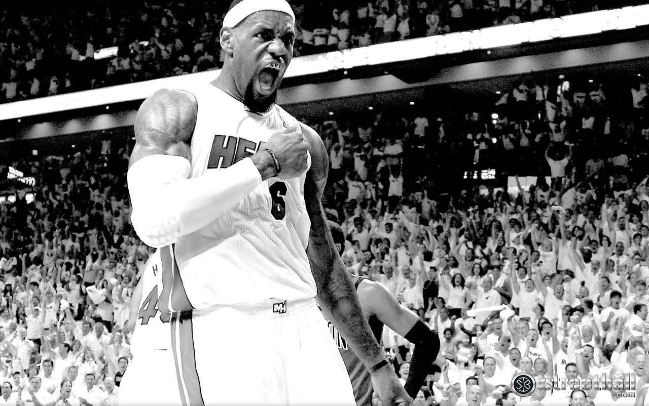 LeBron James HD Miami Heat Playoff Wallpaper - Streetball