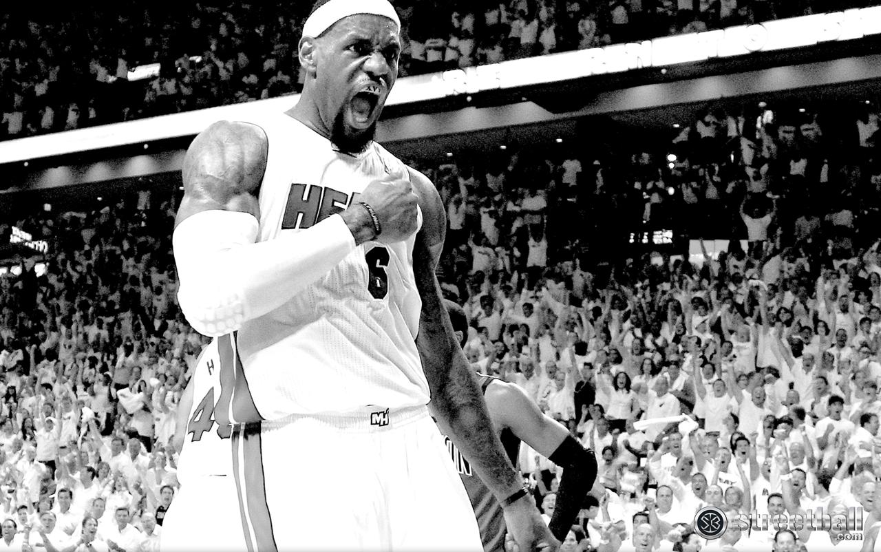 LeBron James HD Miami Heat Playoff Wallpaper